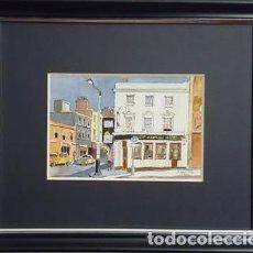 Arte: CUADRO ACUARELA DIBUJO DE - ALBERT PLAY - LONDRES -. Lote 149661742