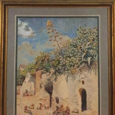 Arte: COSTURERAS. ACUARELA SOBRE PAPEL. JULIAN DEL POZO Y LA TORRE. SIGLO XIX-XX.. Lote 150240914