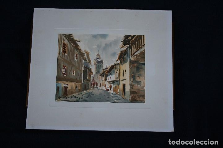 FELIP BRUGUERAS PALLACH, ESTUPENDA ACUARELA DE SALAMANCA , FIRMADA. (Arte - Acuarelas - Contemporáneas siglo XX)