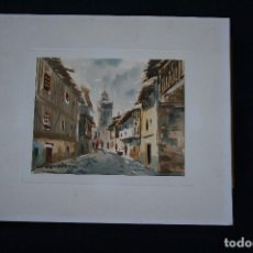Arte: FELIP BRUGUERAS PALLACH, ESTUPENDA ACUARELA DE SALAMANCA , FIRMADA.. Lote 150762042