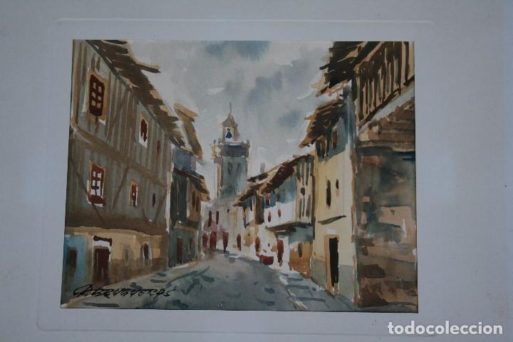 Arte: FELIP BRUGUERAS PALLACH, ESTUPENDA ACUARELA DE SALAMANCA , FIRMADA. - Foto 2 - 150762042