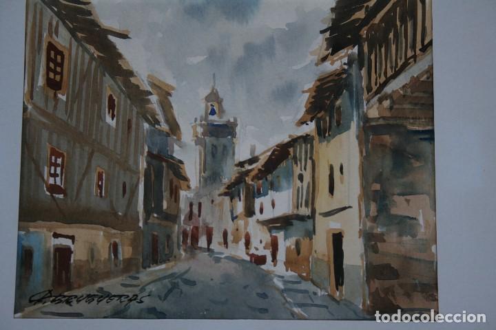 Arte: FELIP BRUGUERAS PALLACH, ESTUPENDA ACUARELA DE SALAMANCA , FIRMADA. - Foto 3 - 150762042
