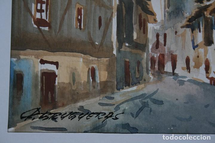 Arte: FELIP BRUGUERAS PALLACH, ESTUPENDA ACUARELA DE SALAMANCA , FIRMADA. - Foto 4 - 150762042