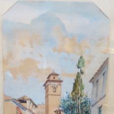 Arte: ACUARELA GRANADINA S.XIX CALLE ELVIRA. Lote 150816672