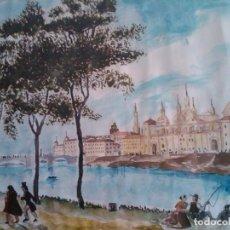 Arte: ACUARELA DE J.QUILEZ - AÑO 1963. Lote 151322858