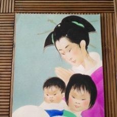 Arte: ARTE. DIBUJO CHINAS PINTADA A MANO. 23CM X 15,5CM.. Lote 151705688