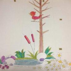 Arte: BOADA, 80X50 CMS, SELLADO Y CATALOGADO. Lote 151879934