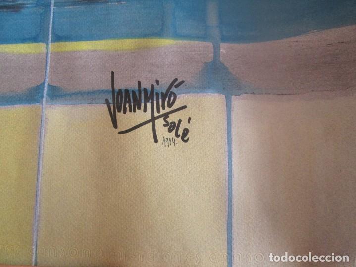 Arte: acuarela original Joan Miró Solé año 1994 la paloma de la paz 109 cm x 75 cm - Foto 11 - 151948590