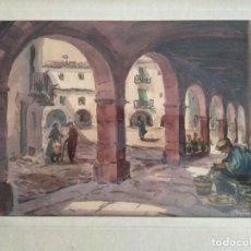 Arte: ACUARELA DE R.CASTELL EN PERFECTO ESTADO.. Lote 152178306