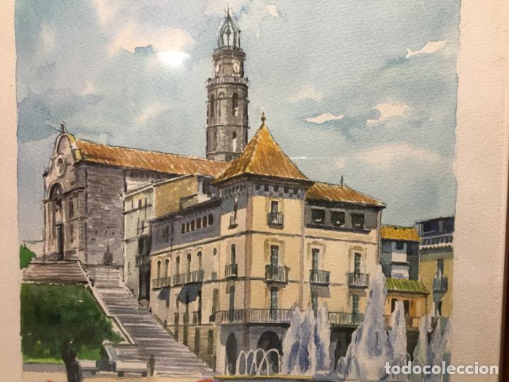 Arte: Antigua acuarela de Manlleu del pintor J.M. Calbó de la jubilación de un trabajador de Euroclima - Foto 3 - 159032156