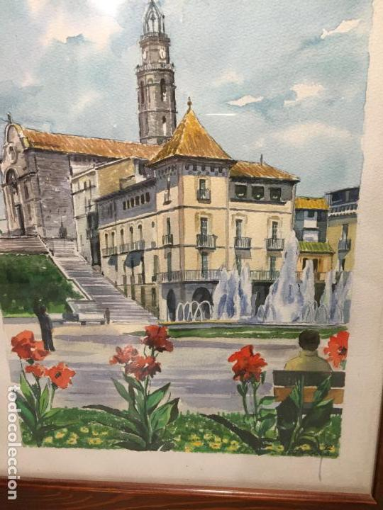Arte: Antigua acuarela de Manlleu del pintor J.M. Calbó de la jubilación de un trabajador de Euroclima - Foto 4 - 159032156
