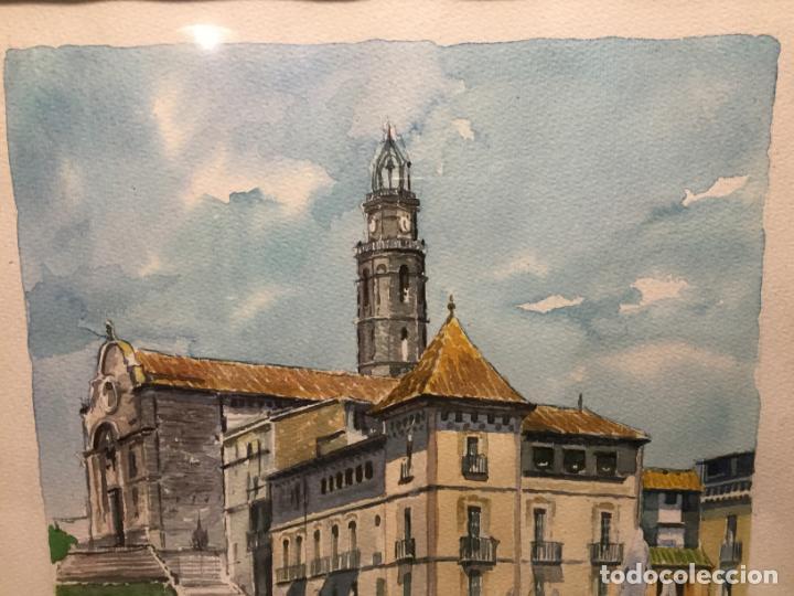 Arte: Antigua acuarela de Manlleu del pintor J.M. Calbó de la jubilación de un trabajador de Euroclima - Foto 5 - 159032156