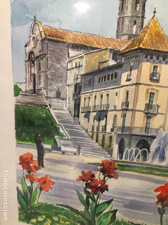 Arte: Antigua acuarela de Manlleu del pintor J.M. Calbó de la jubilación de un trabajador de Euroclima - Foto 6 - 159032156