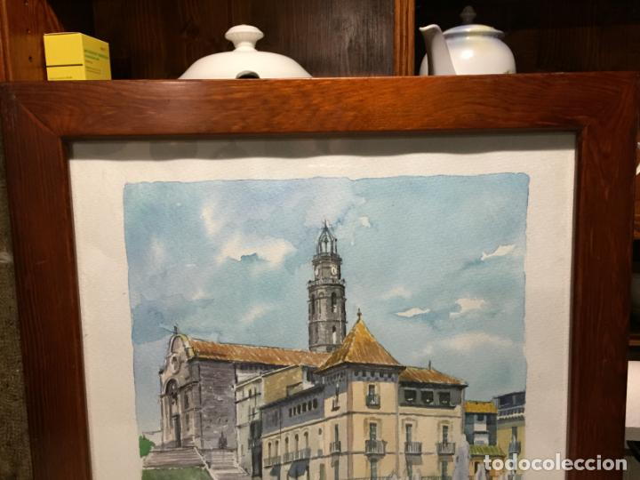 Arte: Antigua acuarela de Manlleu del pintor J.M. Calbó de la jubilación de un trabajador de Euroclima - Foto 7 - 159032156