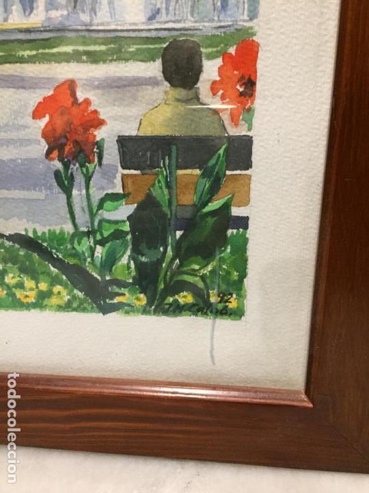 Arte: Antigua acuarela de Manlleu del pintor J.M. Calbó de la jubilación de un trabajador de Euroclima - Foto 8 - 159032156