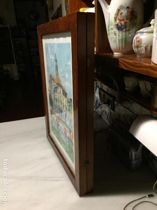 Arte: Antigua acuarela de Manlleu del pintor J.M. Calbó de la jubilación de un trabajador de Euroclima - Foto 12 - 159032156