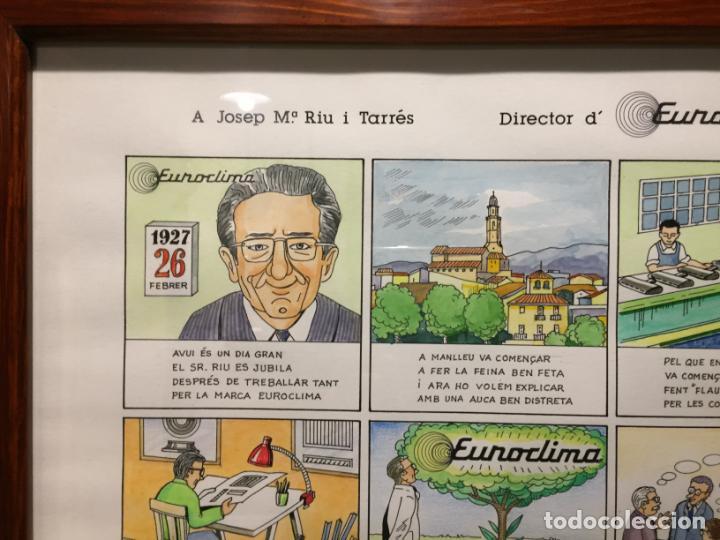 Arte: Antigua acuarela de Manlleu del pintor J.M. Calbó de la jubilación de un trabajador de Euroclima - Foto 20 - 159032156