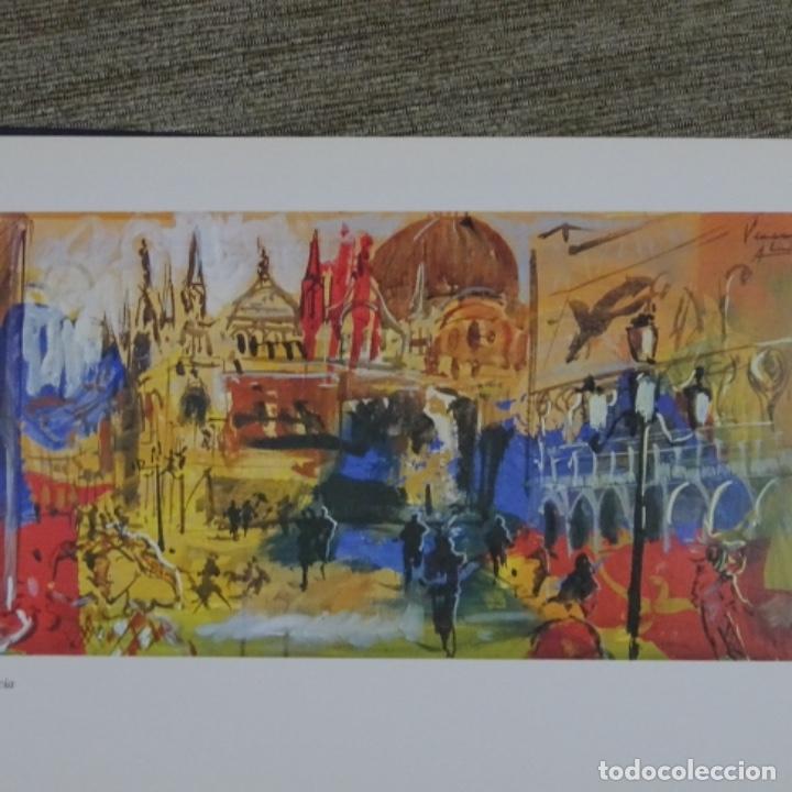 Arte: Acuarela en libro de cristofol almirall(sant Pere de ribes 1952).pinturas de Venecia. - Foto 6 - 152232062