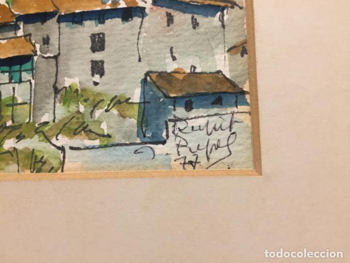 Arte: Antiguas 2 acuarela / acuarelas de dos paisajes Rupit y Ciutadella del pintor J. Pujol años 70-80 - Foto 4 - 152374106