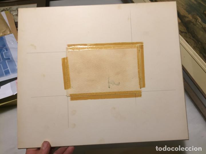 Arte: Antiguas 2 acuarela / acuarelas de dos paisajes Rupit y Ciutadella del pintor J. Pujol años 70-80 - Foto 9 - 152374106