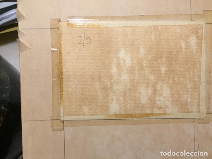 Arte: Antiguas 2 acuarela / acuarelas de dos paisajes Rupit y Ciutadella del pintor J. Pujol años 70-80 - Foto 18 - 152374106
