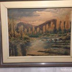 Arte: ANTIGUO CUADRO ACUARELA DE PAISAJE DEL PINTOR RAMON PONS ( 1887-1978). Lote 152374370