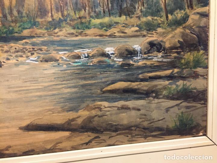 Arte: Antiguo cuadro acuarela de paisaje del pintor Ramon Pons ( 1887-1978) - Foto 4 - 152374370