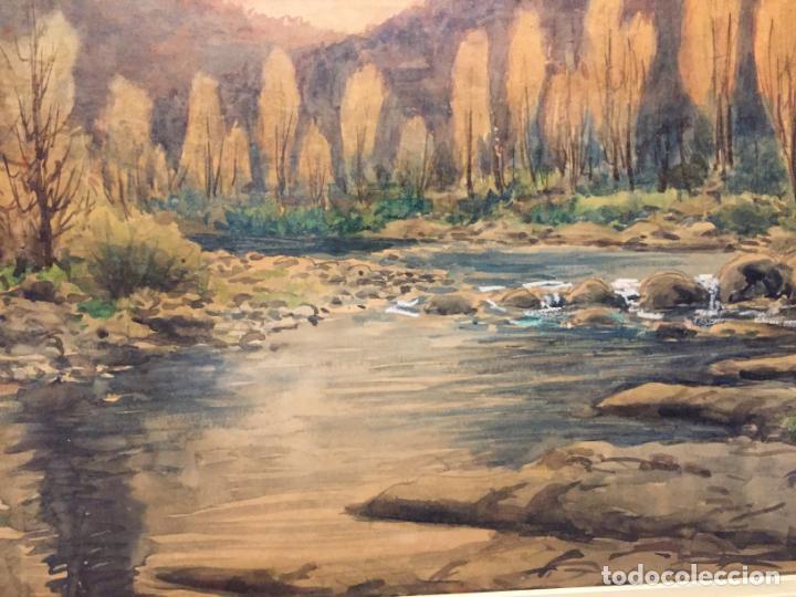 Arte: Antiguo cuadro acuarela de paisaje del pintor Ramon Pons ( 1887-1978) - Foto 7 - 152374370