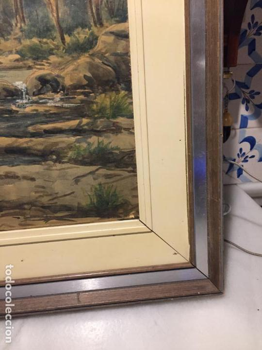 Arte: Antiguo cuadro acuarela de paisaje del pintor Ramon Pons ( 1887-1978) - Foto 10 - 152374370