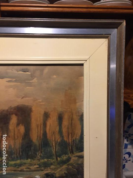 Arte: Antiguo cuadro acuarela de paisaje del pintor Ramon Pons ( 1887-1978) - Foto 11 - 152374370