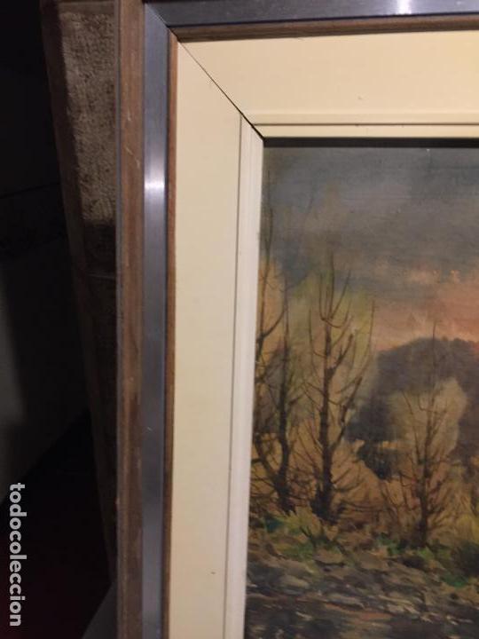 Arte: Antiguo cuadro acuarela de paisaje del pintor Ramon Pons ( 1887-1978) - Foto 13 - 152374370