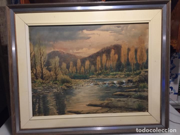Arte: Antiguo cuadro acuarela de paisaje del pintor Ramon Pons ( 1887-1978) - Foto 14 - 152374370