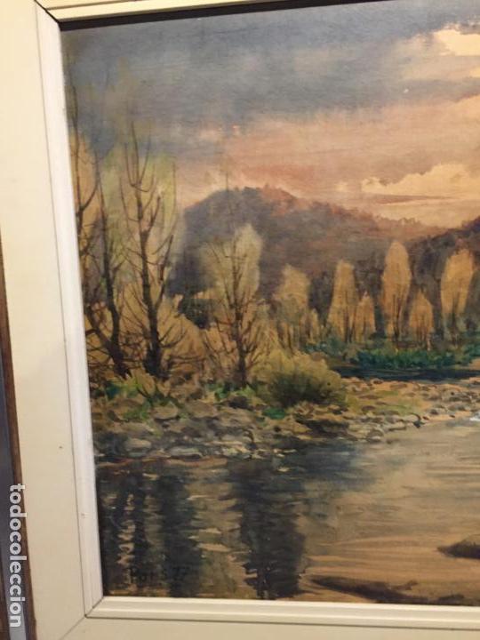 Arte: Antiguo cuadro acuarela de paisaje del pintor Ramon Pons ( 1887-1978) - Foto 15 - 152374370