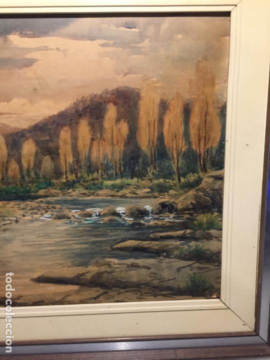 Arte: Antiguo cuadro acuarela de paisaje del pintor Ramon Pons ( 1887-1978) - Foto 16 - 152374370