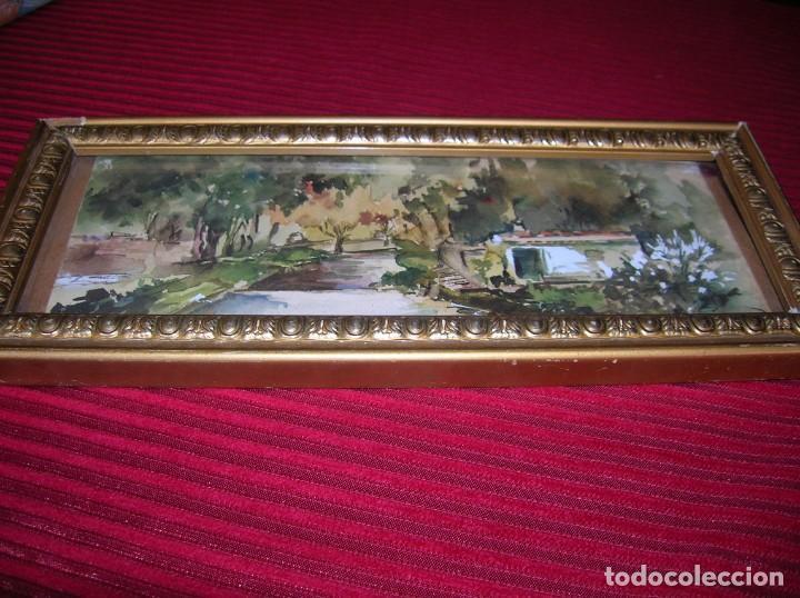 ACUARELA CON FIRMA ARA GRAS.MARCO ANTIGUO. (Arte - Acuarelas - Contemporáneas siglo XX)