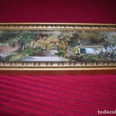 Arte: ACUARELA CON FIRMA ARA GRAS.MARCO ANTIGUO.. Lote 152404598