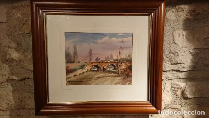 Arte: Antiguos 2 cuadro / cuadros acuarela del pintor Felip Brugueras Pallach - Foto 2 - 152554650