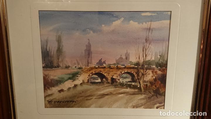Arte: Antiguos 2 cuadro / cuadros acuarela del pintor Felip Brugueras Pallach - Foto 3 - 152554650