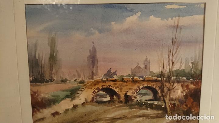 Arte: Antiguos 2 cuadro / cuadros acuarela del pintor Felip Brugueras Pallach - Foto 5 - 152554650