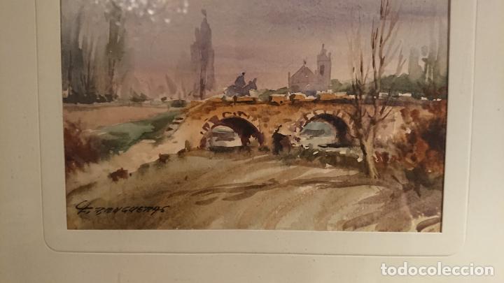 Arte: Antiguos 2 cuadro / cuadros acuarela del pintor Felip Brugueras Pallach - Foto 6 - 152554650