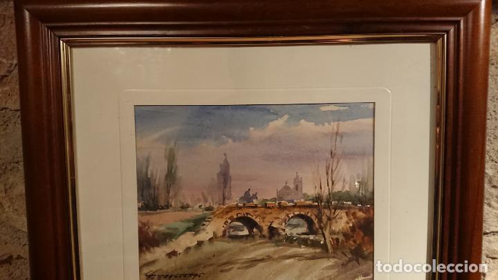 Arte: Antiguos 2 cuadro / cuadros acuarela del pintor Felip Brugueras Pallach - Foto 8 - 152554650