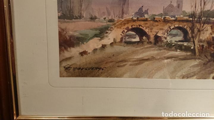 Arte: Antiguos 2 cuadro / cuadros acuarela del pintor Felip Brugueras Pallach - Foto 9 - 152554650