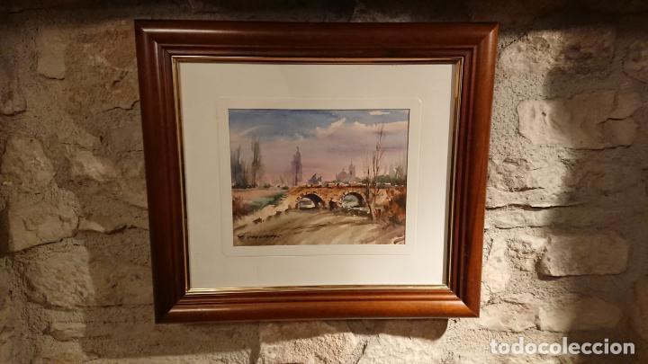 Arte: Antiguos 2 cuadro / cuadros acuarela del pintor Felip Brugueras Pallach - Foto 11 - 152554650