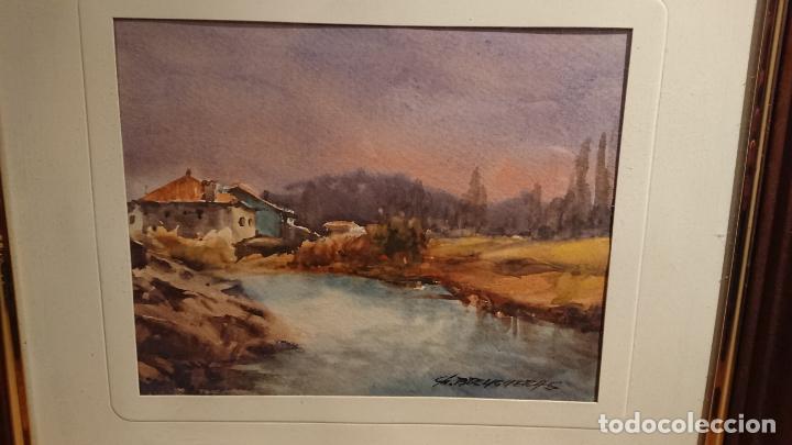 Arte: Antiguos 2 cuadro / cuadros acuarela del pintor Felip Brugueras Pallach - Foto 12 - 152554650