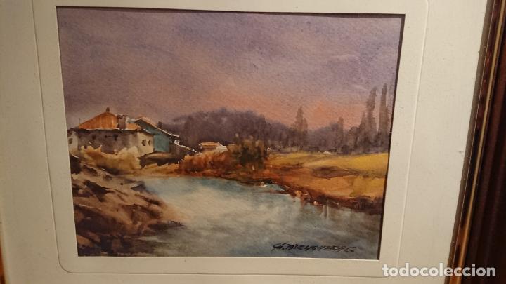 Arte: Antiguos 2 cuadro / cuadros acuarela del pintor Felip Brugueras Pallach - Foto 13 - 152554650