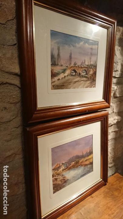 Arte: Antiguos 2 cuadro / cuadros acuarela del pintor Felip Brugueras Pallach - Foto 16 - 152554650
