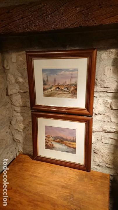 Arte: Antiguos 2 cuadro / cuadros acuarela del pintor Felip Brugueras Pallach - Foto 17 - 152554650