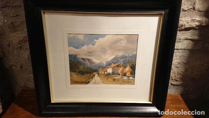 Arte: Antiguos 2 cuadro / cuadros acuarela del pintor Felip Brugueras Pallach - Foto 2 - 152554862
