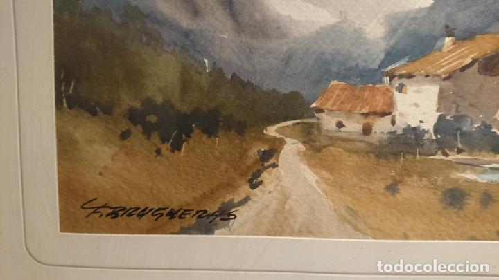Arte: Antiguos 2 cuadro / cuadros acuarela del pintor Felip Brugueras Pallach - Foto 5 - 152554862