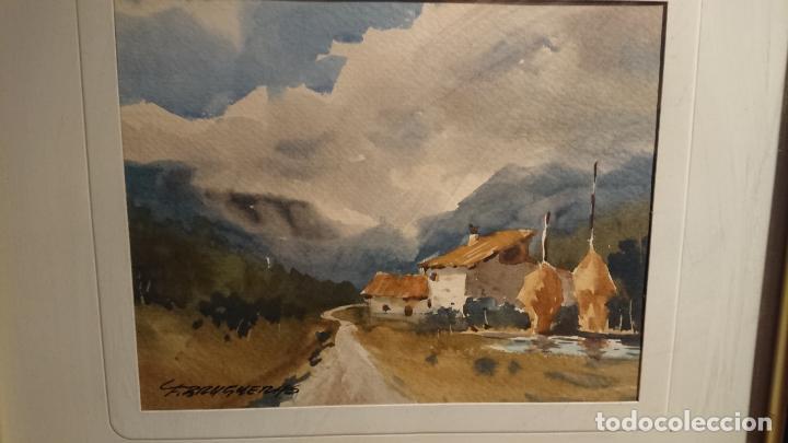 Arte: Antiguos 2 cuadro / cuadros acuarela del pintor Felip Brugueras Pallach - Foto 6 - 152554862